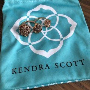 Kendra Scott Naomi Rose Gold Double Finger Ring